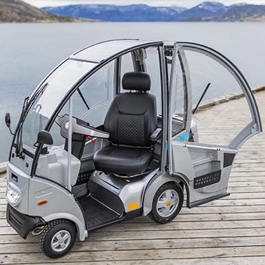 Hepro S4 elektrisk scooter med kabin